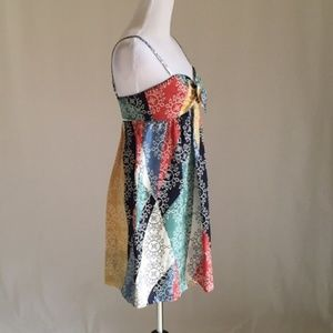 BCBGMaxAzria Dresses - BCBGMAXAZRIA 100% Silk Multi Color Dress Small